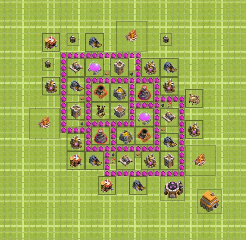 Лучшие постройки базы в clash of clans тх 6, th 6. Ратуша уровень 6.