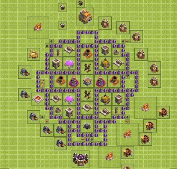 Схемы баз в clash of clans тх 10, th 10. Ратуша уровень 10.